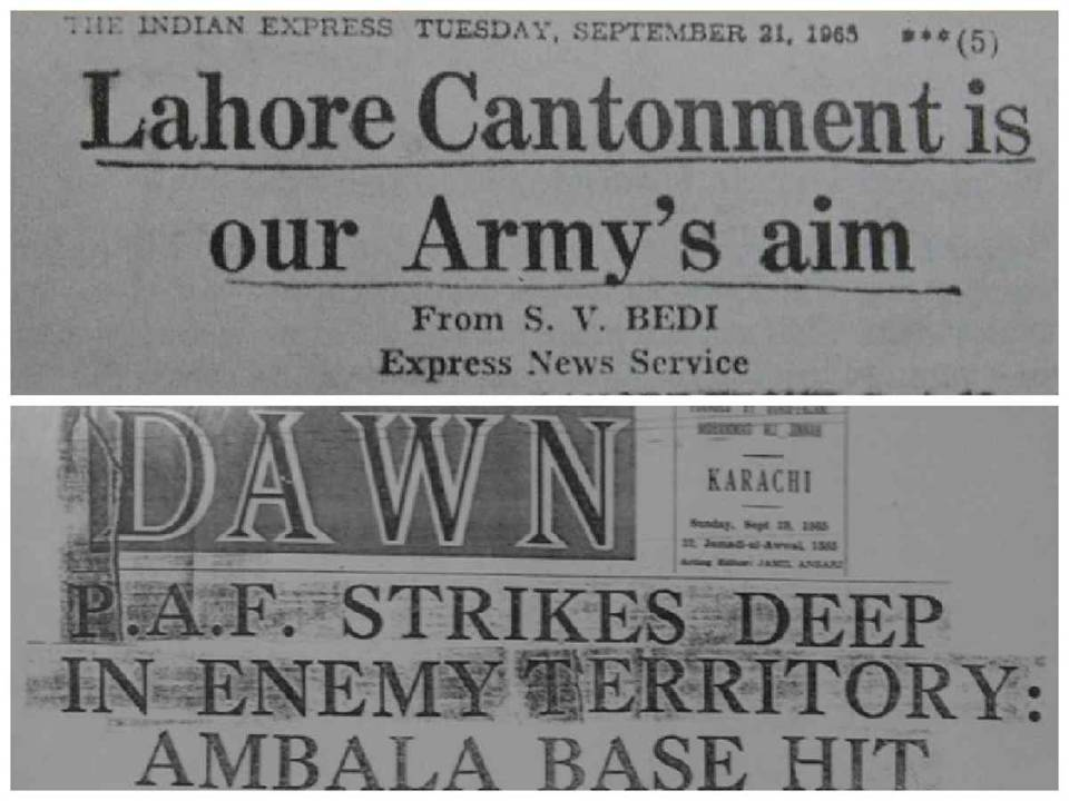 Governments, Media and History Textbooks differ on the outcome of the 1965 Indo-Pak war.