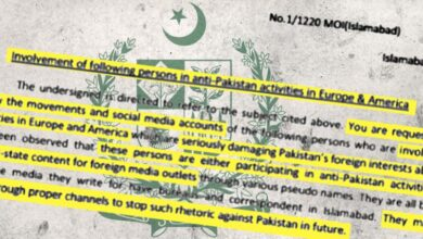 Photo of RSF warns Pakistani authorities not to threaten journalists living abroad